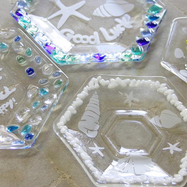 ガラスフュージングのお皿