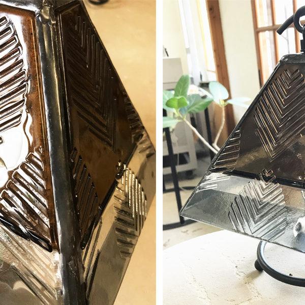 フュージングガラスのランプシェード