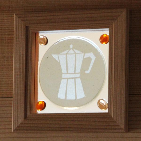 コーヒーのガラス小窓
