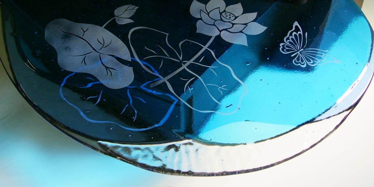 手作り オリジナルガラス現代仏壇