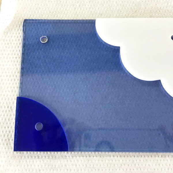 「ブルーインパルス」ガラス表札その1