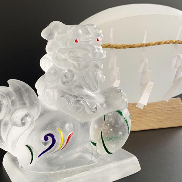 ガラスのラグビー神社 納品