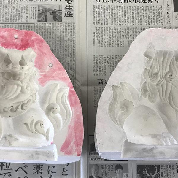 ガラスの狛犬 製作Part4