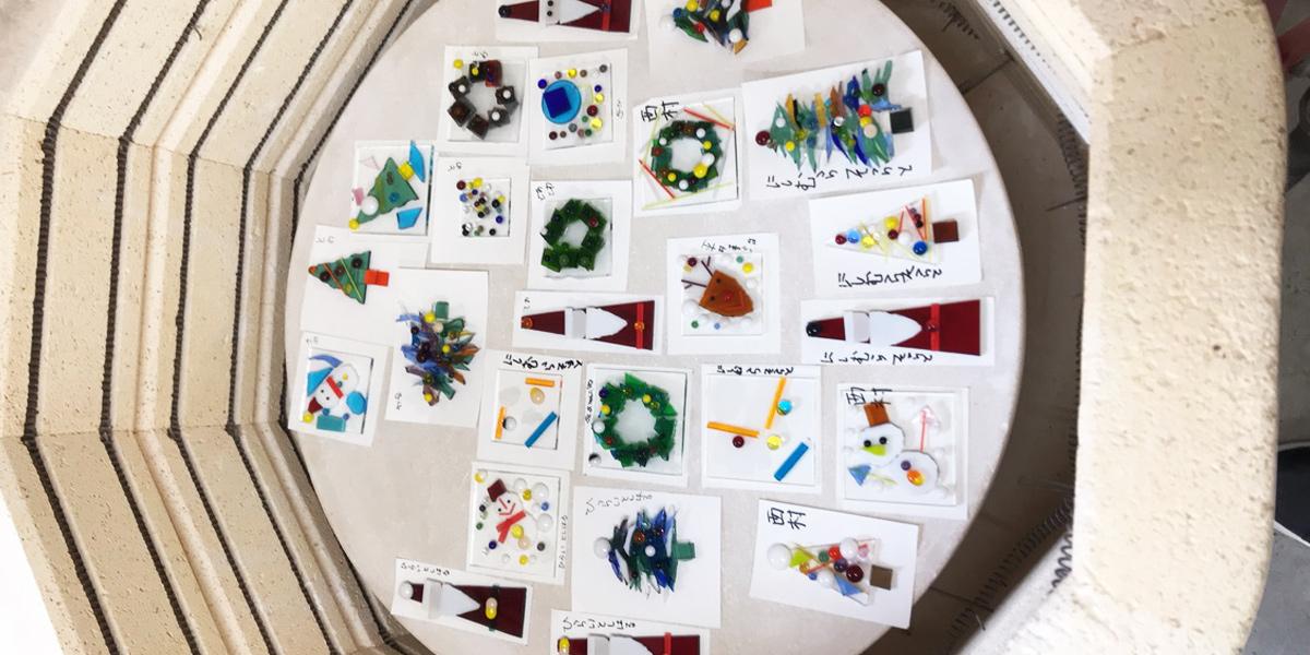 ガラスのクリスマスオーナメント